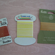 Three Packages of Silk Ribbon-Unopened