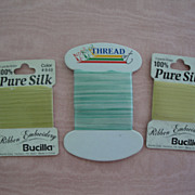 Three Packages Bucilla Silk Ribbon-Store Stock