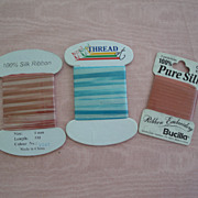 Three Lovely Packages of Bucilla Silk Ribbon-Store Stock