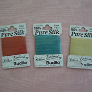 Three Packages Unopened Bucilla Silk Ribbon