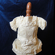 Prettiest Antique French Silk Doll Dress