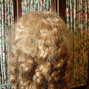 SOLD Abundant Long Blond Antique Doll Wig!