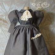 SOLD Prim & Proper Antique School Marm Doll Dress!