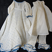 SOLD Cute Antique Boudoir Doll Dress & Drawers