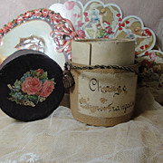 Wonderful Antique FRENCH Doll Hat Box!