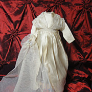 SOLD Amazing Antique Doll Wedding Dress & Veil!