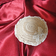 Antique Crochet Doll Bonnet For Spring!