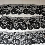 Elegant Antique Laces In Black