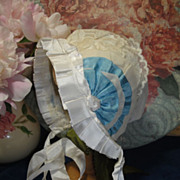 Amazing Antique Baby Doll Bonnet! Mint Condition