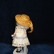 SOLD CUTE Tiny Antique Doll Straw Hat