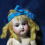 SOLD Pretty Antique Doll With Blonde Curls