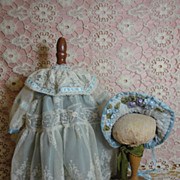 SOLD Delicious Doll Costume! Blue Taffeta & Lace