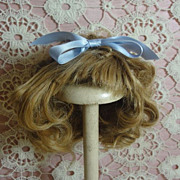 Bountiful Antique Doll Wig-Blond Human Hair