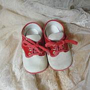 Dearest Vintage Baby Shoes-Red/White Oxfords