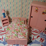 SALE Vintage Ginny Sized Doll Furniture! Four Pieces!