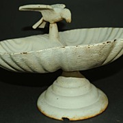 Antique Cast Iron Table Top Bird Bath