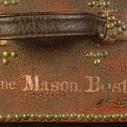 Antique Red Leather Traveling Case Owned by Jane Mason Boston