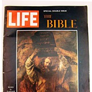 Vintage Copy of Special Double Isue of LIFE Magazine - The Bible