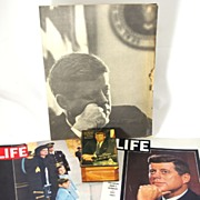 SOLD BLOW OUT SALE! Lot of Vintage President Kennedy Memorabilia