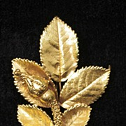 SALE SALE ! - Vintage Goldtoned Leaf Brooch PERFECT FOR FALL!