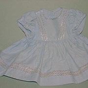 Vintage 50's doll dress metallic trim