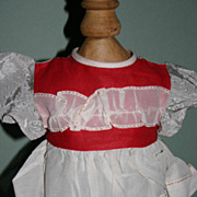 SALE Vintage factory doll dress
