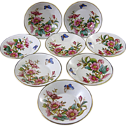 SALE Set of 8 English Victorian Berry Bowls - 1884