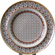 SALE Aesthetic Brown Transferware Soup Plate - Albany 1879