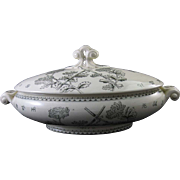 SALE Victorian Aesthetic Movement Transferware Covered Tureen 1870s