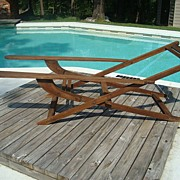 1940's Wooden Deck Chair