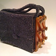 Beaded Bakelite Deco Purse