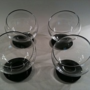 Set of Four Morgantown Oddball Cocktail Glasses