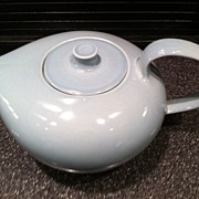 Russel Wright Ice Blue Redesigned Tea Pot