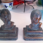 "Art Deco Bookends c1930/40's ""Demure"""