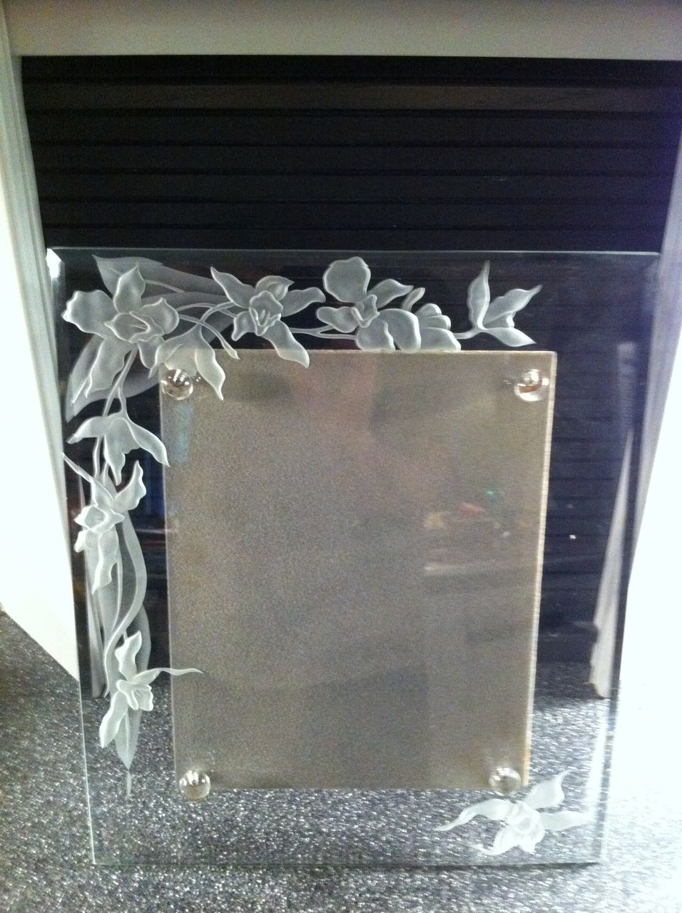 dorothy thorpe etched glass picture frame from eraofmyways