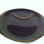 American Modern Black Chutney Party Plate by Russel Wright