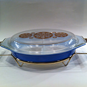 1950's Pyrex Covered Divided Casserole