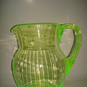 Vintage Rib Optic Pitcher - light reactive