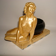 Art Deco Figural Ashtray