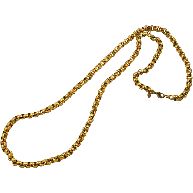 monet heavy gold plated chain necklace from