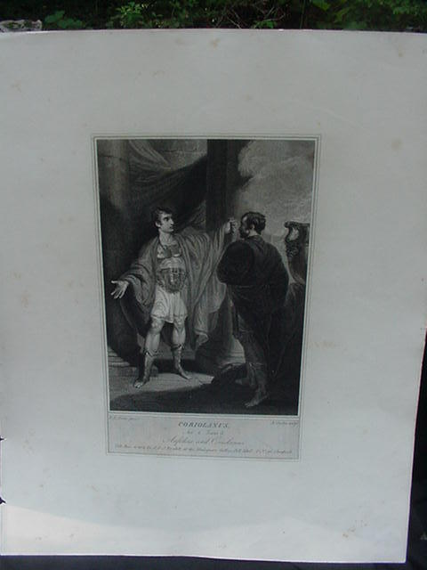 Antique Engraving from Shakespeare's Play Coriolanus, J & J Boydell