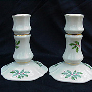 Pair of Lenox Holly & Berry Candlesticks