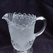 Stippled Shell Water Pitcher, Early American Pressed Glass