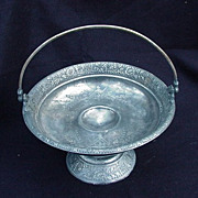 Victorian Era Silverplated Cake Stand, Webster Silver Co., New York