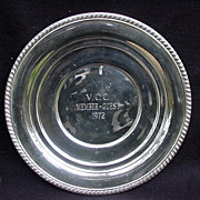 Vintage Round Sterling Tray by Alvin