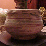 Vintage Silver Springs, Florida,  Pottery Bowl, Unglazed
