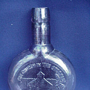 Commemorative Pressed Glass Amethyst Bottle, 1980, The Church in the Stockade in Schenectada,