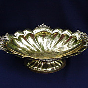 Vintage Brass Compote, Made in Italy