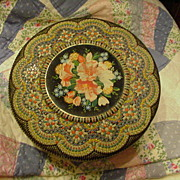 Vintage Mosaic Tin, Made in Holland