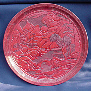 Vintage Japanese Cinnabar Tray Retailed by Lord & Taylor